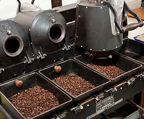 Showing coffee manufactory