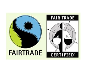 showing labels fairtrade