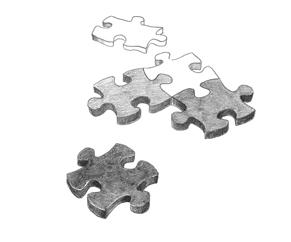 showing puzzle pieces