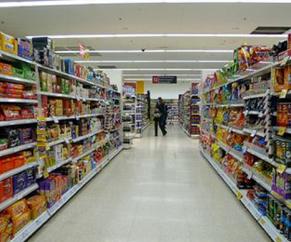 Showing supermarket