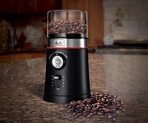 Showing coffee grinder