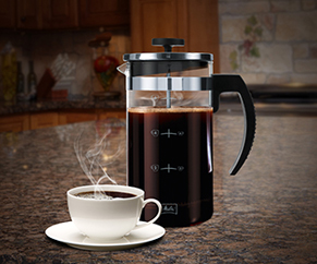 Showing french press